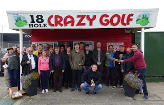 The characters from the annual Holiday on the Buses Crazy Golf Competition in Prestatyn