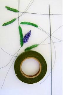 Фото мастер-класс лаванда из бисера цветок и листья