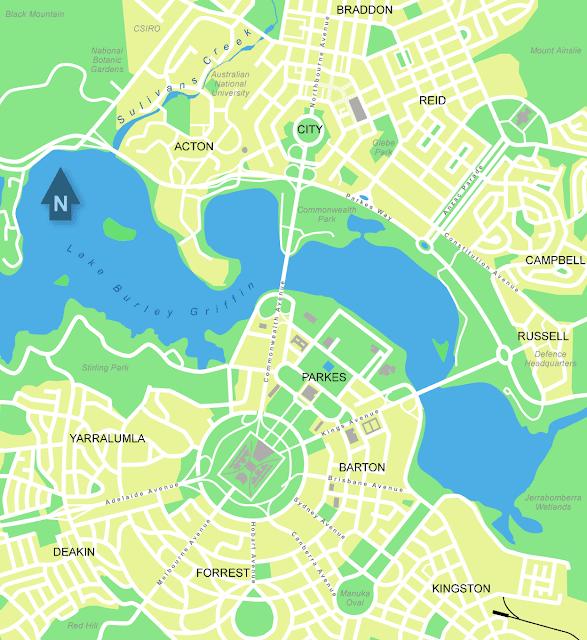 Mapas de Camberra