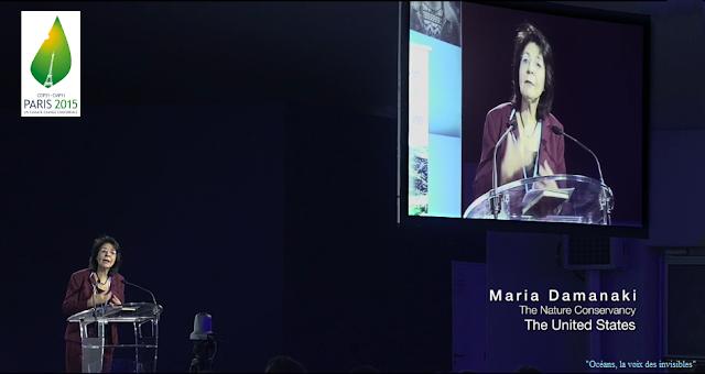 Maria Damanaki à La Tribune De Cop21 Paris Copie D écran Du Film Océans Voix Des Invisibles