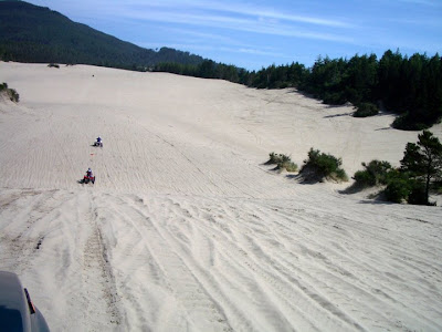 Suzuki Sidekick on the dunes at Sand Lake