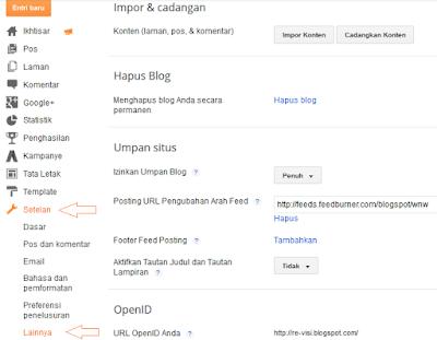 Cara Sederhana Backup Pada Blogger