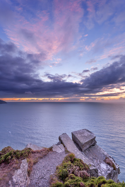 looking out to the ocean from the Valley of Rocks in Exmoor National Park by Martyn Ferry Photography