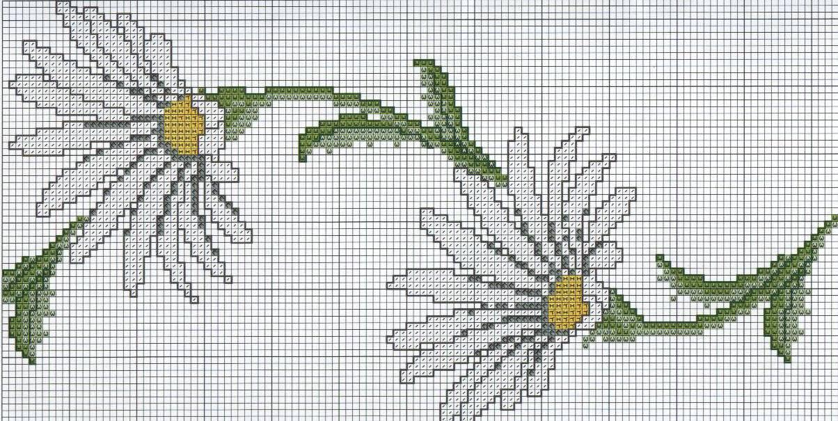 Cenefas en punto cruz para sábanas y cortinas | Crochet