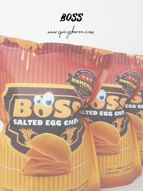 boss salted egg potato chips