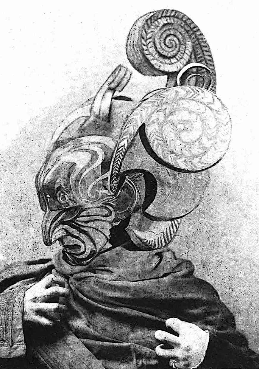 a Wladyslaw Theodor Benda photograph of a mask