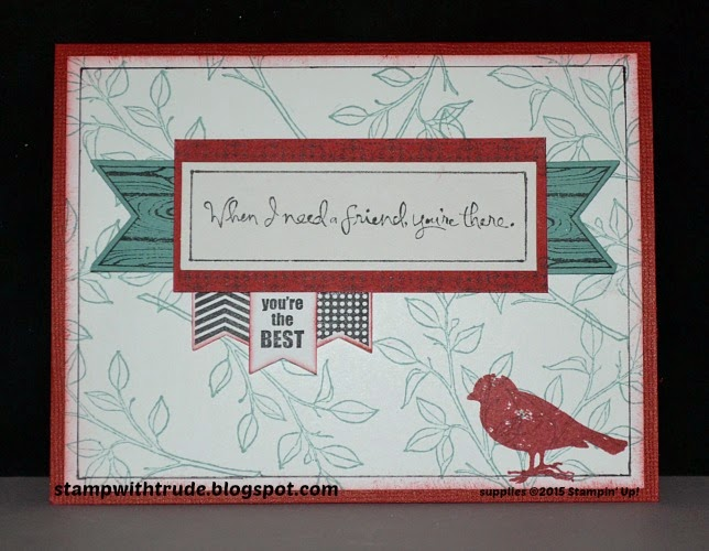 stampwithtrude.blogspot.com , Trude Thoman, Stampin' Up!, Choose Happiness, friendship card,