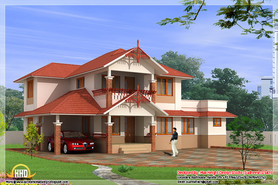 Beautiful Indian home elevation #02