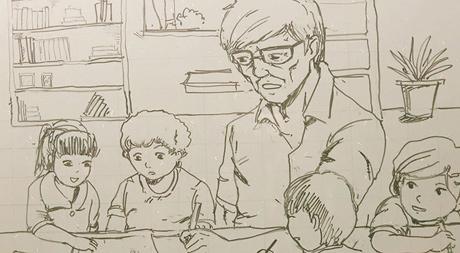 Kết quả hình ảnh cho tranh vẽ thầy giáo