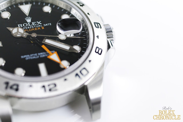 Closeup photo of Rolex Explorer II Case