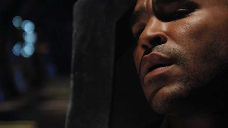 "Ronald Greer (Jamil Walker Smith) in the SGU episode ""Pain"""