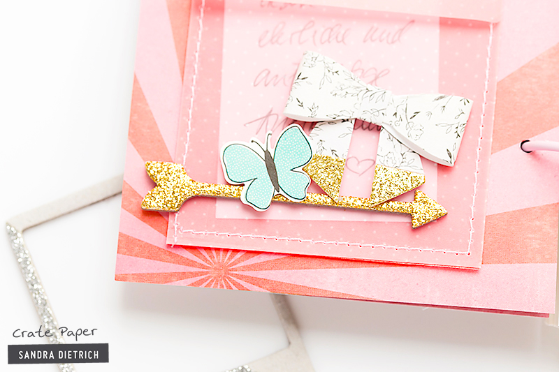 @SandraDietrich for @CratePaper Decorated Notebook Detail Bow