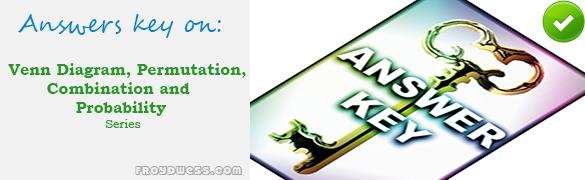 Mcqs In Venn Diagram Permutation Combination And