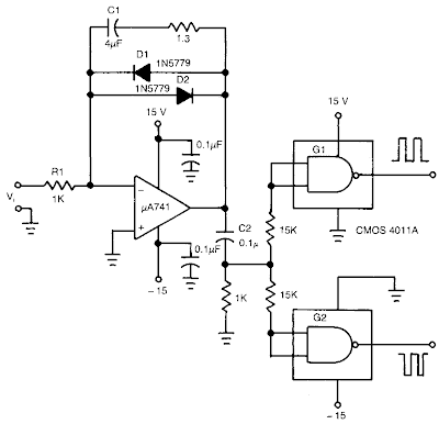 Schematic Diagram: Build a Voltage to Frequency Converter