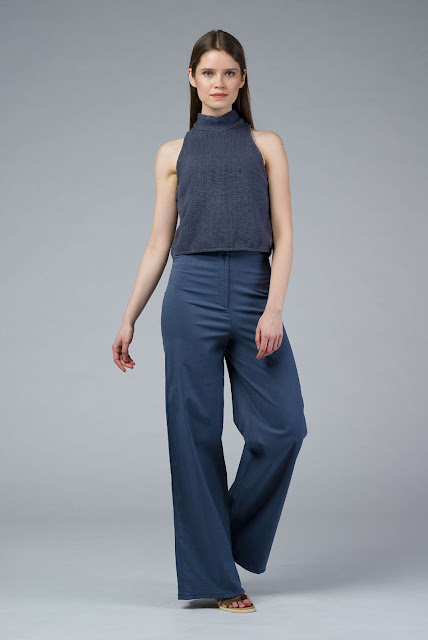 DIONE: Hand Woven Alloy Crop Top