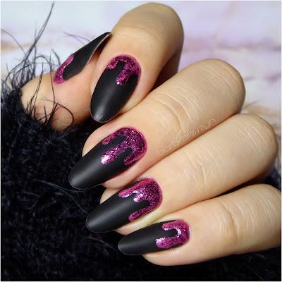 Błyszczące płatki na paznokcie