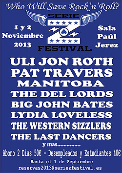 Pat Travers y The Del Lords al Serie Z Festival