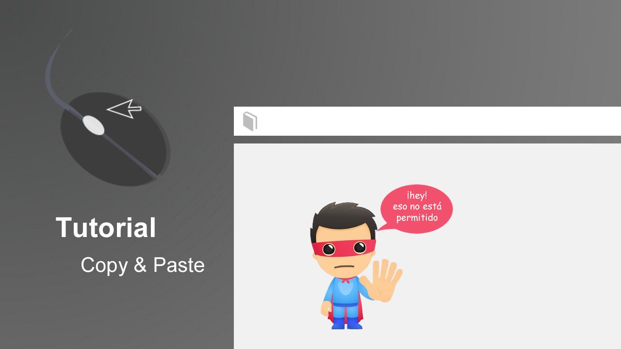 Inhabilitar el botón derecho con un mensaje en pantalla