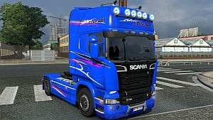 BlueStream skin for Scania Streamline
