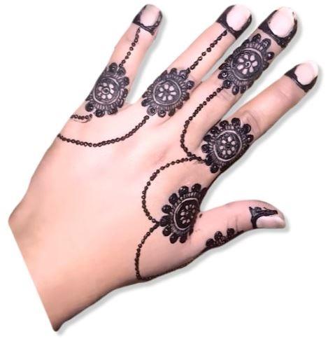 Simple Jewellery Mehndi