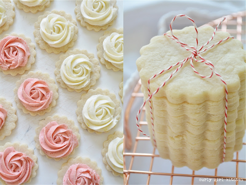 Shortbread, Vanilla Bean Cookies, Cutout Cookies, Shortbread Cookies, Buttercream Roses, Strawberry Buttercream, Lavender Lemon