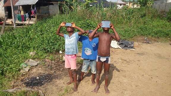 nigerian kids bayelsa state eclipse of the sun