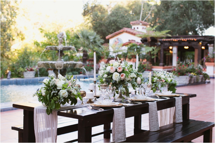 Elegant Tablescape | Rancho Las Lomas Wedding Inspiration by Damaris Mia Photography