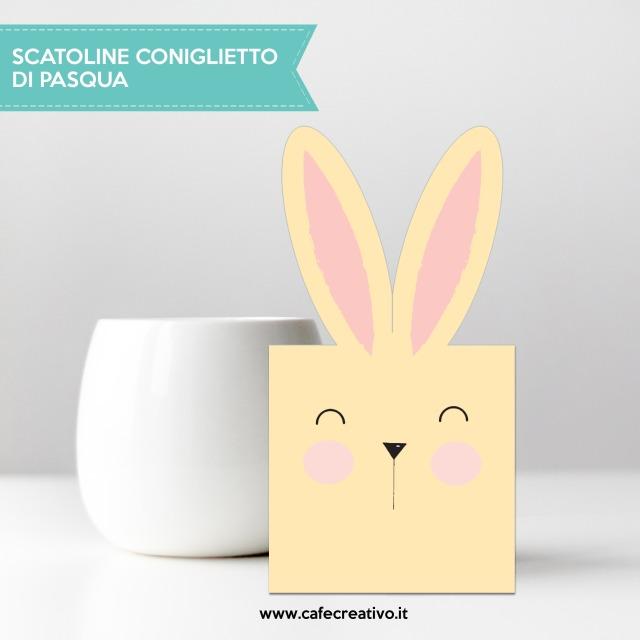 Scatoline coniglietto stampabili gratis per Pasqua o Primavera