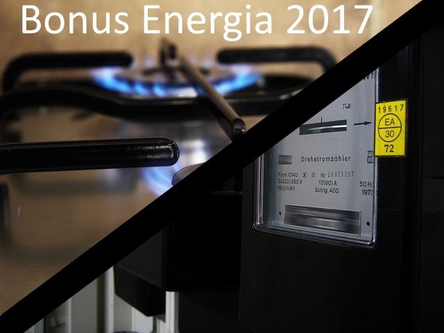 bonus energia 2017 elettricit e gas