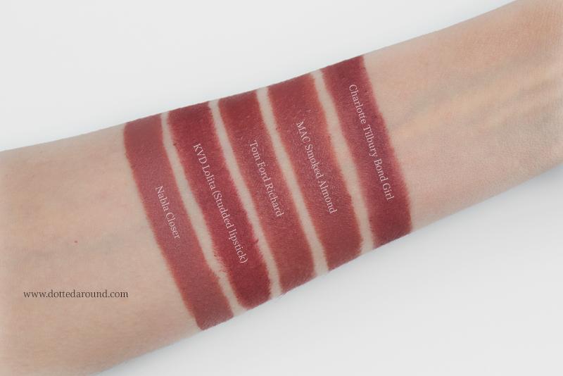 Kat Von D Lolita Studded Lipstick dupes swatch