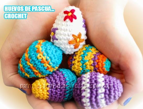 Patrón de Mini Huevos de Pascua Crochet Paso a Paso | Crochet y Dos ...