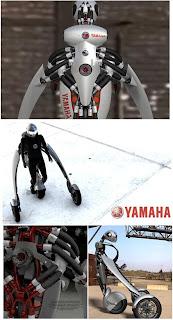 Motocicleta del futuro creativa
