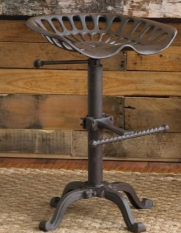 Tractor Stool Cast Iron Vintage Style Seat Bar