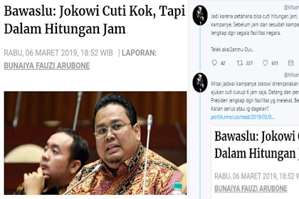 Bawaslu: Jokowi Cuti, Tapi Dalam Hitungan Jam, Netizen: Bawaslu, Kalian Serius atau Dagelan?
