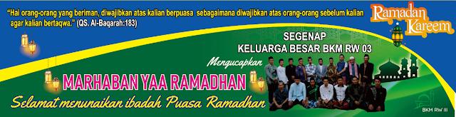 Spanduk Mmt Bkm Ramadhan 1440 H 2019 Per Mushola Masjid Di Rw Iii