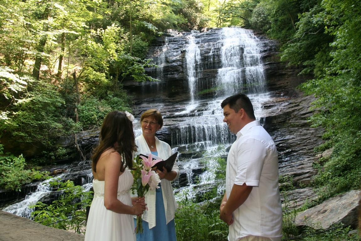 Waterfall Wedding In NC