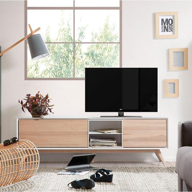 muebles de sal n muebles de television de estilo nordico On muebles salon estilo nordico