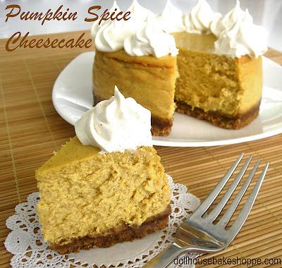 http://blog.dollhousebakeshoppe.com/2011/11/mini-pumpkin-cheesecake-with-maple.html