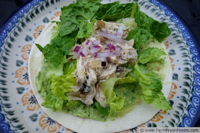 http://www.farmfreshfeasts.com/2013/06/slow-cooker-greek-chicken-tacos.html