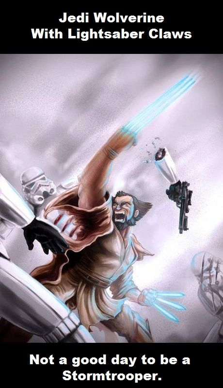 Jedi Wolverine Star Wars Vs XMen
