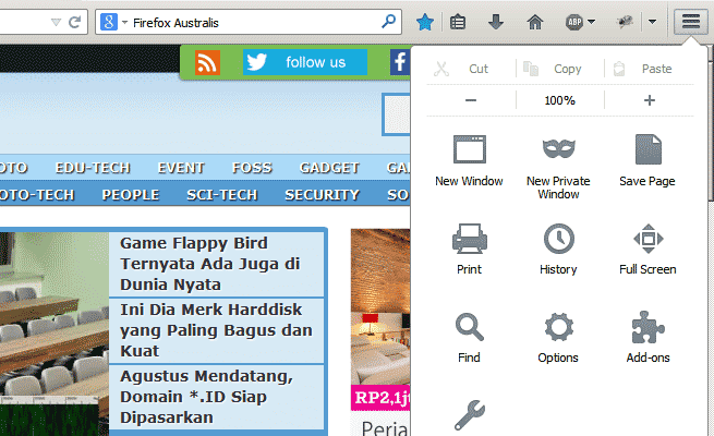 Firefox new UI