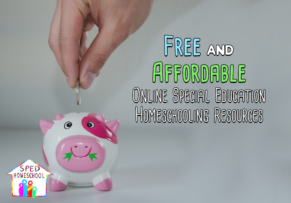 Free and Affordable Online Special Education Homeschooling Resources
