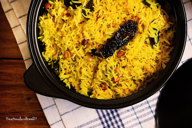 how to make Lemon Rice recipe and preparation with step by step pictures