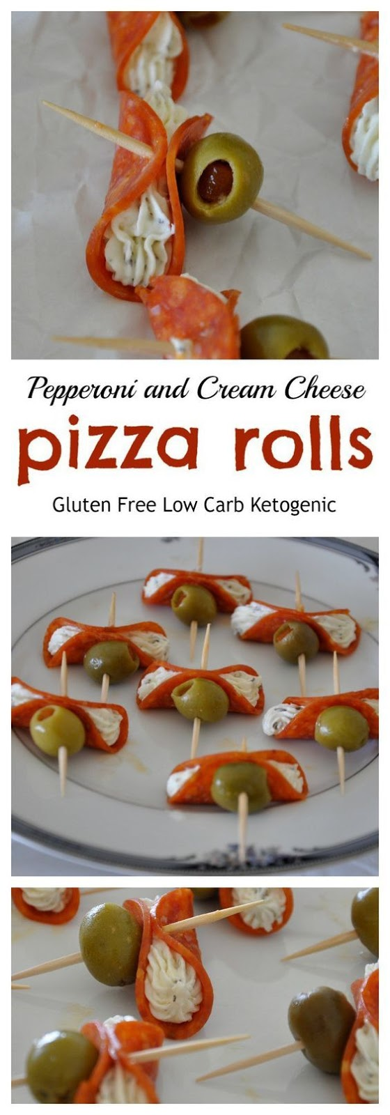 Pepperoni and Cream Cheese Pizza Rolls [Gluten Free]