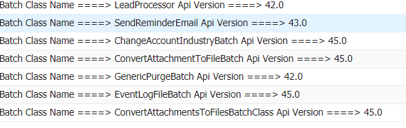 How to get all batch apex class names in org? - Salesforce