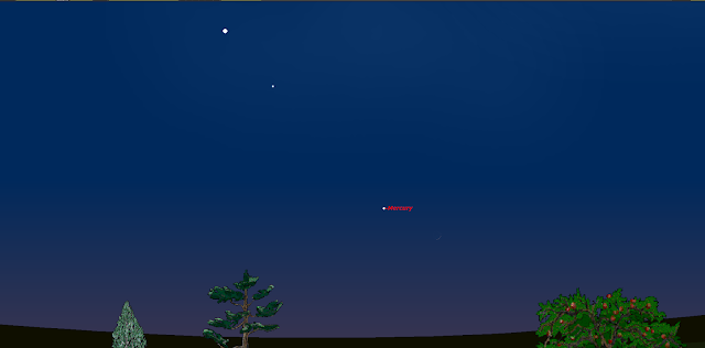 The new moon, Mercury Regulus and Venus