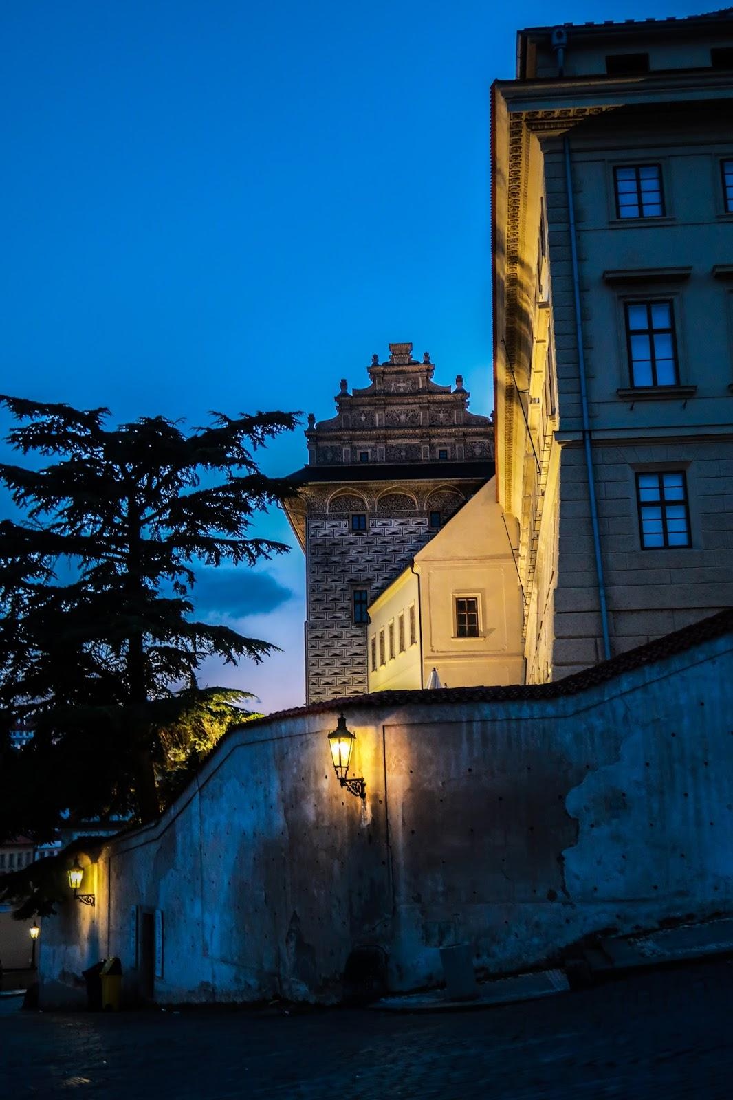 Wandering around Prague at night