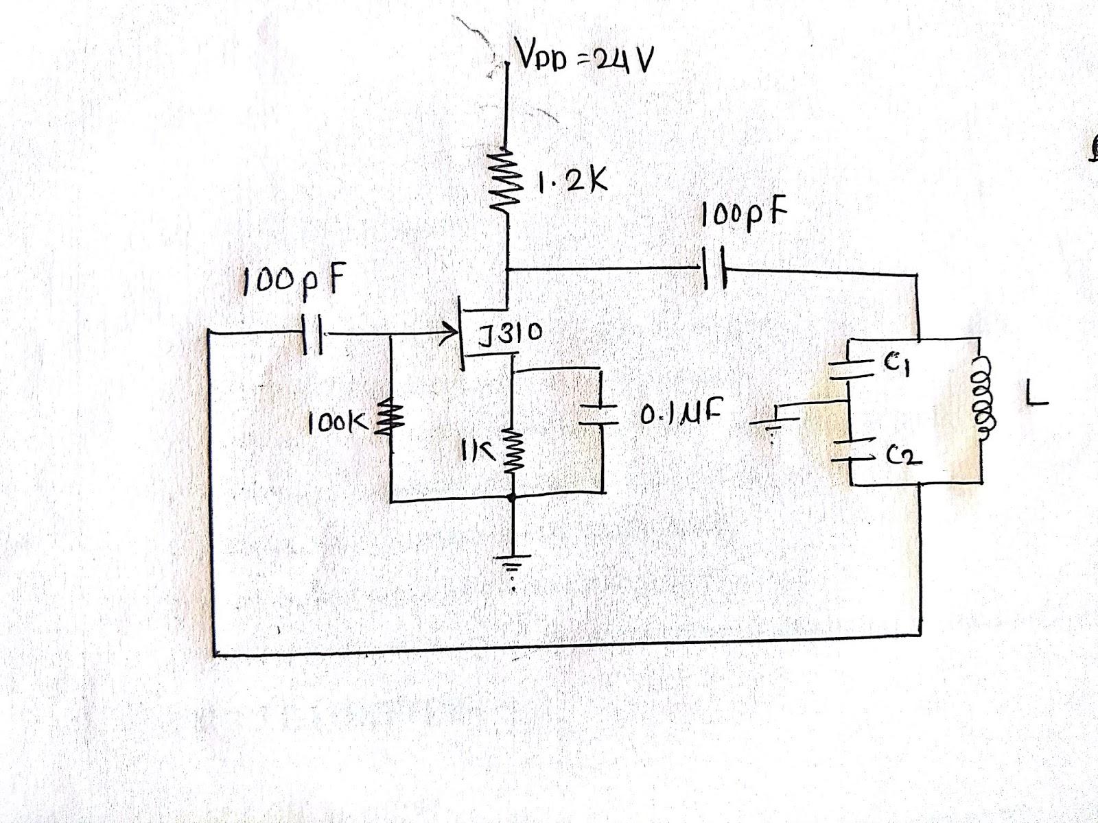 Techfosha Edc Simulation Lc Oscillator Using Fet Circuit Diagram