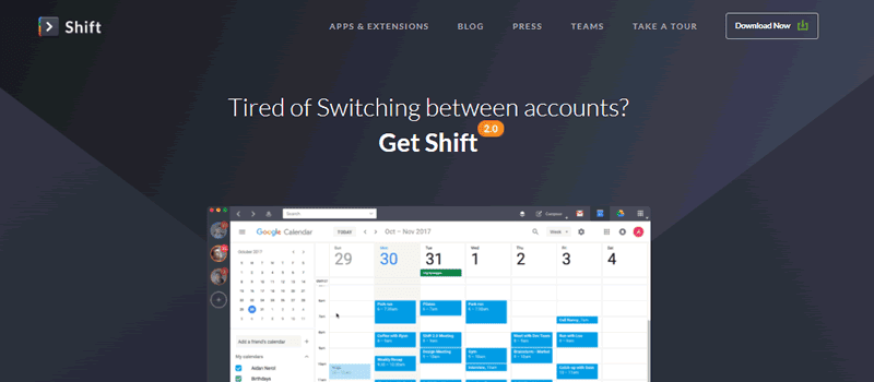 Get Shift to manage your Gmail accounts