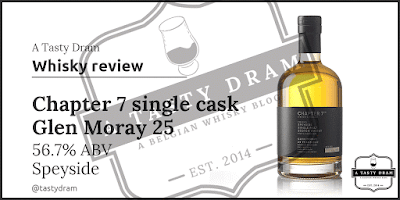 Tasting Notes Glen Moray 25 year old single cask from Chapter 7